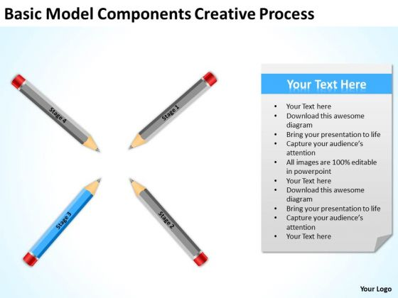 Basic Model Components Creative Process Ppt Business Plan PowerPoint Templates
