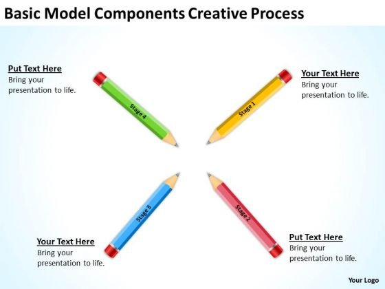 Basic Model Components Creative Process Ppt Business Plans Writers PowerPoint Templates