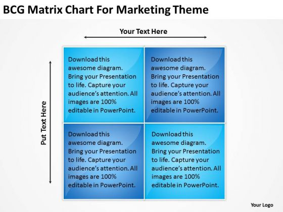 bcg matrix chart for marketing theme business plan powerpoint, Modern powerpoint