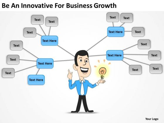 Be An Innovative For Business Growth Download Plan PowerPoint Templates