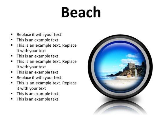 Beach Holidays PowerPoint Presentation Slides Cc