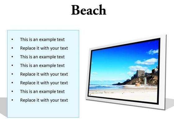 Beach Holidays PowerPoint Presentation Slides F