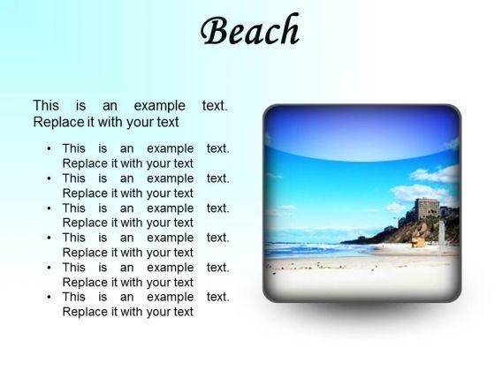 Beach Holidays PowerPoint Presentation Slides S