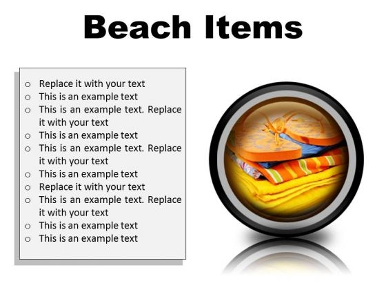 Beach Items01 Holidays PowerPoint Presentation Slides Cc