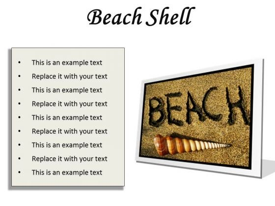 Beach Shell Holidays PowerPoint Presentation Slides F