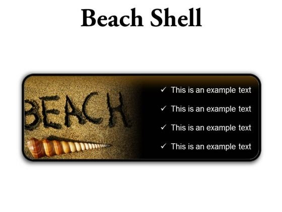 Beach Shell Holidays PowerPoint Presentation Slides R