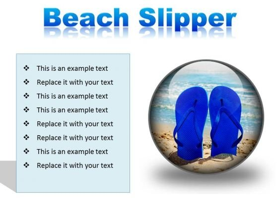 Beach Slipper Holidays PowerPoint Presentation Slides C