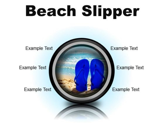 Beach Slipper Holidays PowerPoint Presentation Slides Cc