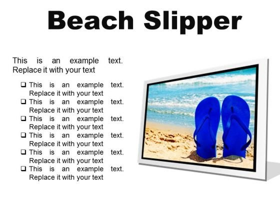 Beach Slipper Holidays PowerPoint Presentation Slides F