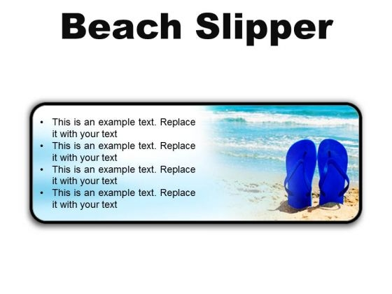 Beach Slipper Holidays PowerPoint Presentation Slides R