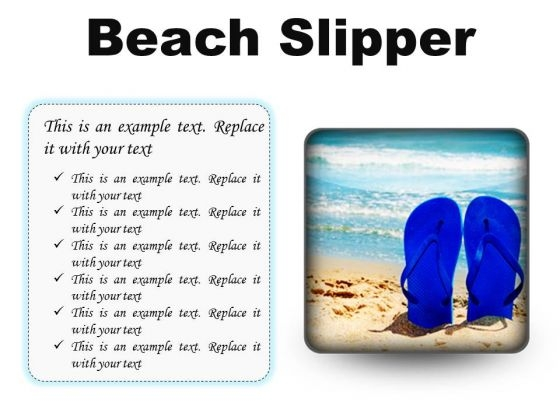 Beach Slipper Holidays PowerPoint Presentation Slides S