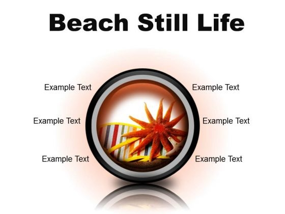 Beach Still Lifestyle PowerPoint Presentation Slides Cc