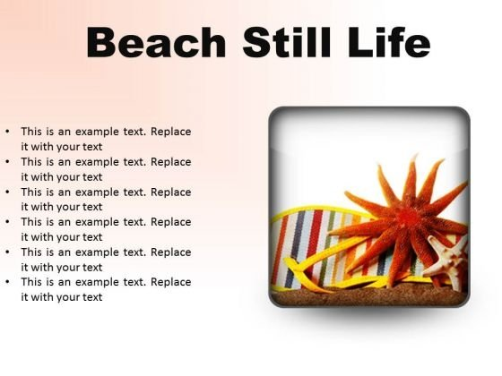 Beach Still Lifestyle PowerPoint Presentation Slides S