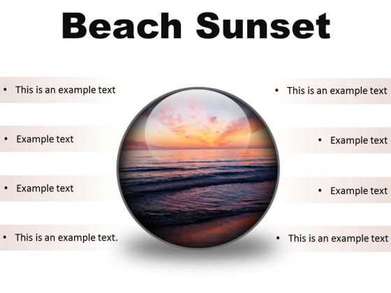 Beach Sunset PowerPoint Presentation Slides C