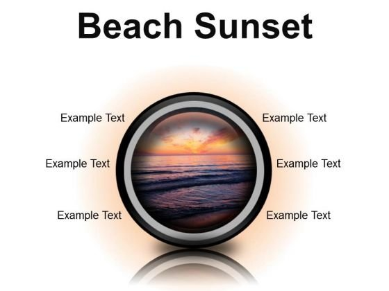 Beach Sunset PowerPoint Presentation Slides Cc