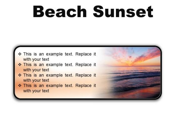 Beach Sunset PowerPoint Presentation Slides R