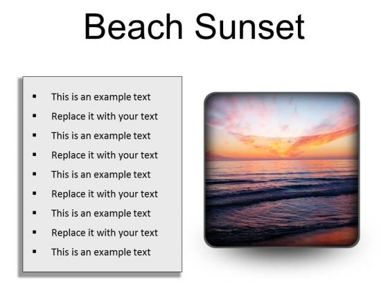 Beach Sunset PowerPoint Presentation Slides S