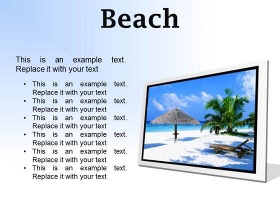 Beach Vacation PowerPoint Presentation Slides F