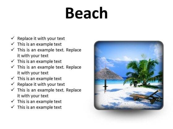 Beach Vacation PowerPoint Presentation Slides S