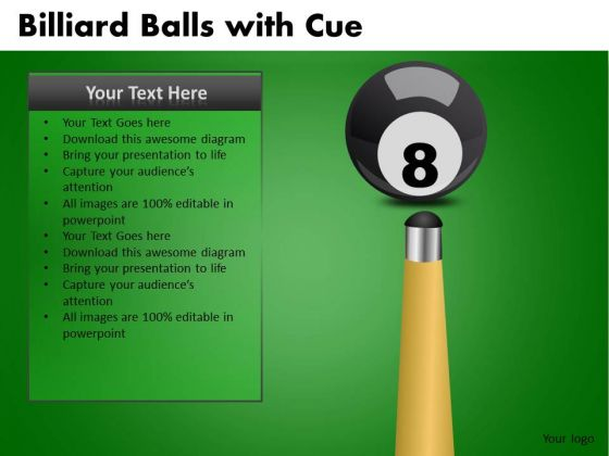 Behind The 8 Ball Difficult Situation PowerPoint Templates