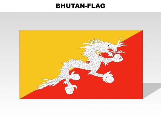 Bhutan Country PowerPoint Flags