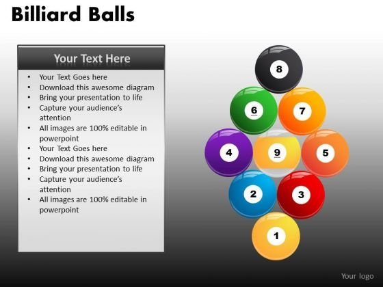 Billiard Pool Balls Formation Sports PowerPoint Ppt Slides