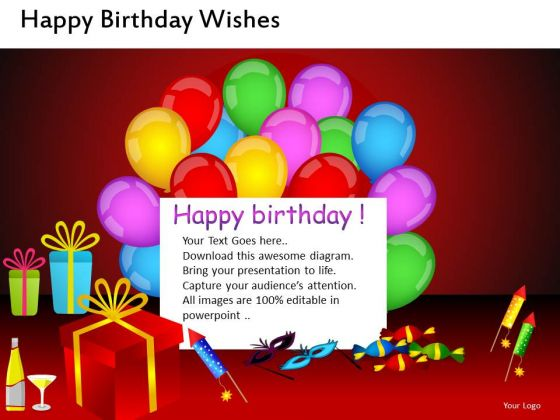 birthday celebrations powerpoint templates birthday balloons ppt, Powerpoint templates