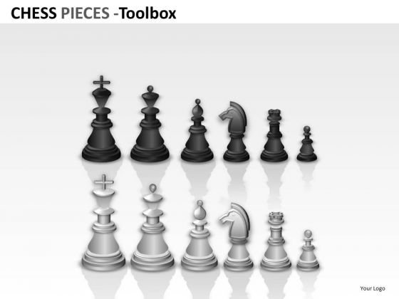 Black And White Chess Pieces PowerPoint Slides And Ppt Templates