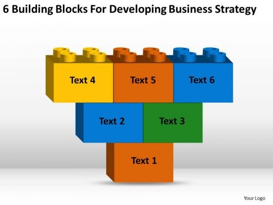 Blocks For Developing Business Strategy Consultants Ppt What Is Plan PowerPoint Slides