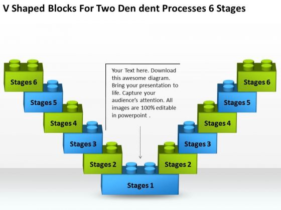 Blocks For Two Dendent Processes 6 Stages Ppt Business Plan PowerPoint Templates
