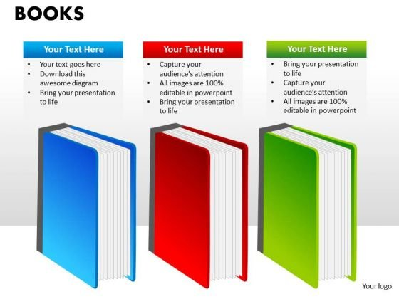 Books Education Business Editable PowerPoint Slides Ppt Templates