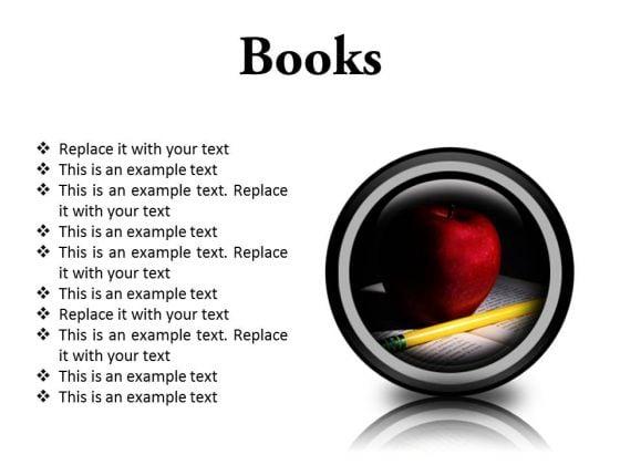 Books Education PowerPoint Presentation Slides Cc