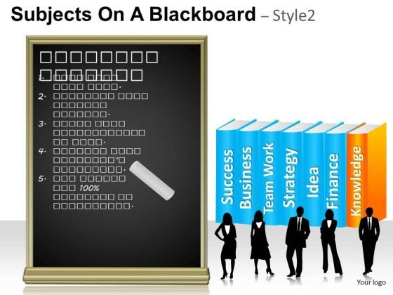 Books Subjects On A Blackboard 2 PowerPoint Slides And Ppt Template Diagrams