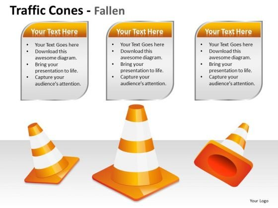 Border Traffic Cones PowerPoint Slides And Ppt Diagram Templates