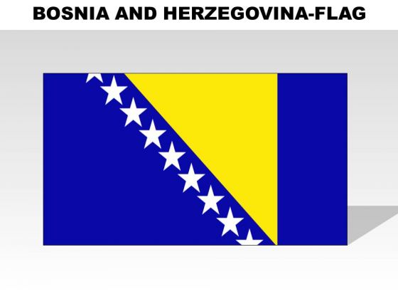 Bosnia And Herzegovina Country PowerPoint Flags