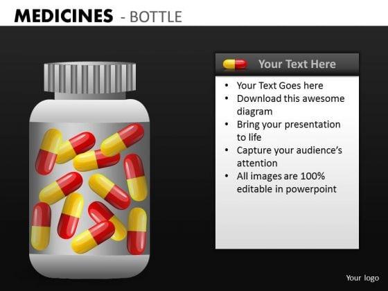 Bottle Of Pills PowerPoint Templates Editable Pills Ppt Slides