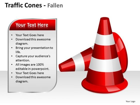 Boundary Cone Traffic Cones PowerPoint Slides And Ppt Diagram Templates