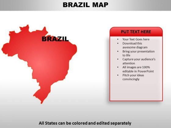 Brazil PowerPoint Maps