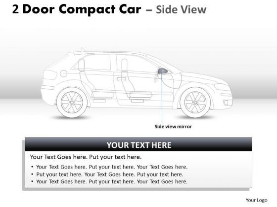 Bright 2 Door Gray Car Side PowerPoint Slides And Ppt Diagram Templates