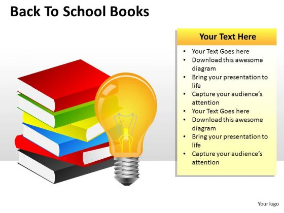 Bright Education Books PowerPoint Slides And Ppt Templates