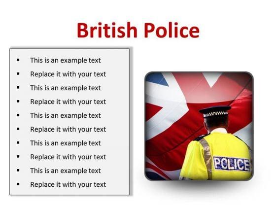British Police Americana PowerPoint Presentation Slides S
