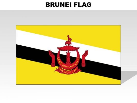 Brunei Country PowerPoint Flags