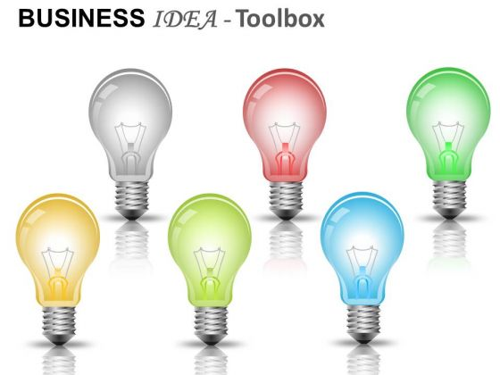 Bulbs Showing Business Ideas PowerPoint Slides And Ppt Diagram Templates
