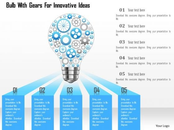 Innovative powerpoint templates slides and graphics bullb with gears for innovative ideas powerpoint template toneelgroepblik Images