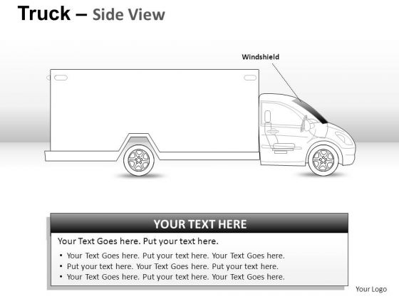 Bump Body Yellow Truck PowerPoint Slides And Ppt Diagram Templates
