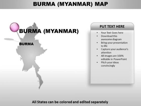 Burma Myanmar Country PowerPoint Maps