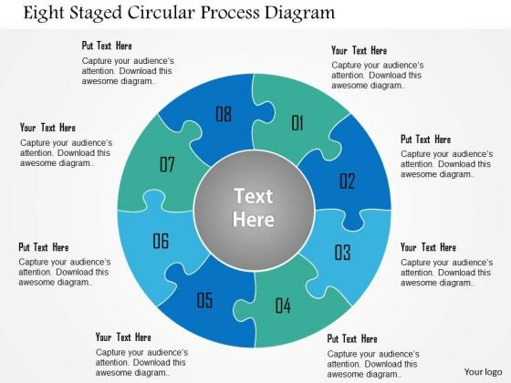 Busines Diagram Eight Staged Circular Process Diagram Presentation Template