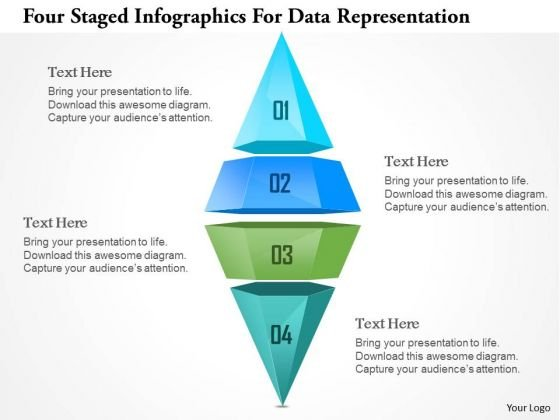 Busines Diagram Four Staged Ingographics For Data Representation Ppt Template