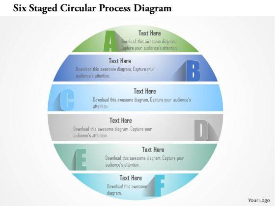 Busines Diagram Six Staged Circular Process Diagram Presentation Template