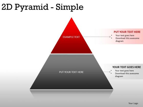 Business 2d Pyramid Simple PowerPoint Slides And Ppt Diagram Templates